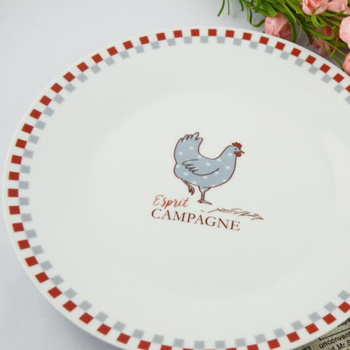 Customized printing ceramic dinner plate for hotel & home