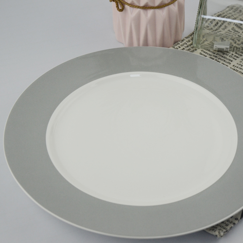 China factory Solid color round shape ceramic plate