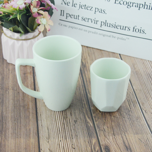 Customized color soil porcelain  coffee  mug  with handle