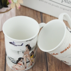 11oz customized  unique printing  new bone china  coffee mug