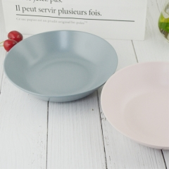 Wholesale light  pink beautiful porcelain  dinner soup bowl