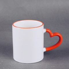Hot product custom 11oz white ceramic coating mug