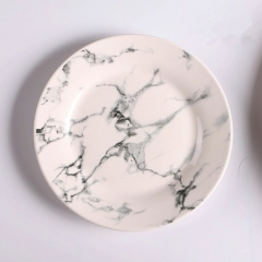 2018 wholesale cheap marble ceramic charger plates