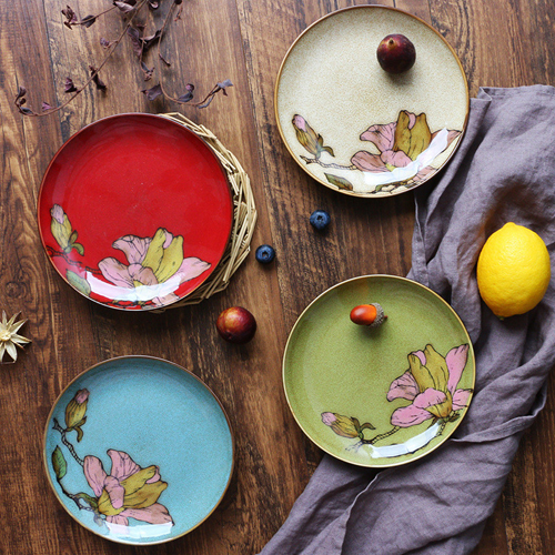 2018 Hot product 6inch art ceramic plate for  dinner