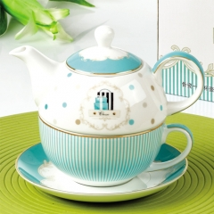Restaurant China manufacturer   cup set and  teapot with ceramic infuser