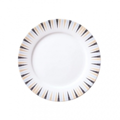 Ceramics manufacture wholesale porcelain  white round shape dinner plate
