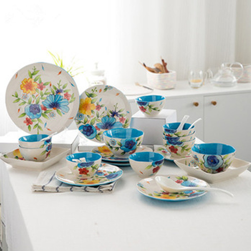 Luxury 28pcs full printed porcelain dinnerware set