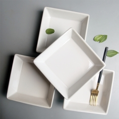 New design  ceramic square salad bowls simple and fashionable household ceramic bowls