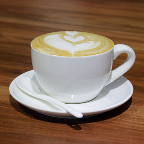 200ml custom logo white porcelain coffee cup and saucer