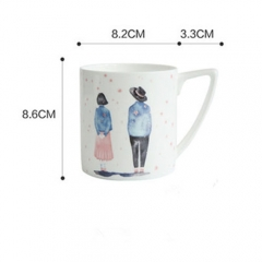 Wholesale promotional custom printed dinner set ceramic coffee cup